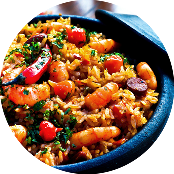 Health Generation - Paella meal image
